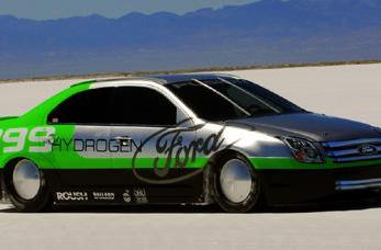 Ford Fusion Hydrogen 999 breaks 200 miles-per-hour