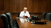 Trump to check out of hospital, says Covid not a worry