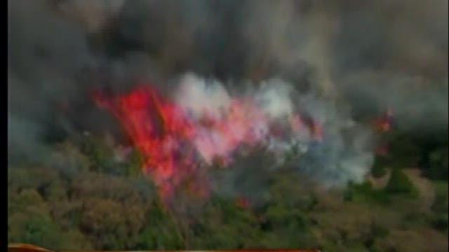 Wildfire contained near Cushing