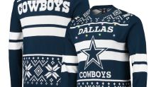 Ugly Christmas sweaters featuring your favorite NFL team are 25% off at Fanatics