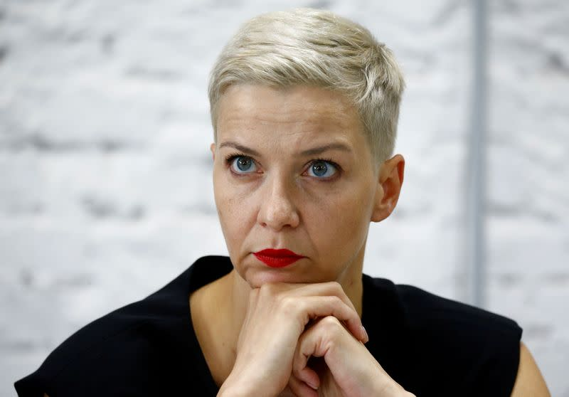 Viva Maria: Belarusian protesters celebrate leader who chose jail over exile