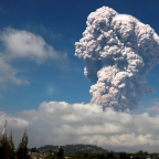 Mount Sinabung: Video shows spectacular volcanic explosion that turned day to night