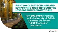 University of British Columbia's energy-efficiency initiative receives a boost through the Low Carbon Economy Fund