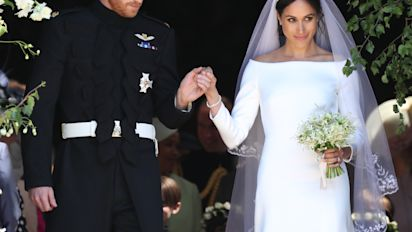 Meghan's dress had a tribute to Canada