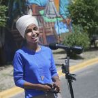 The Latest: Omar holds off well-funded primary challenger