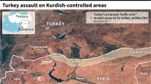 Syria Kurds say prison housing IS fighters hit by Turkey
