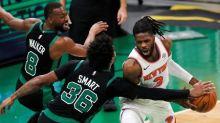 Knicks beat Celtics 105-75 to end 5-game losing streak