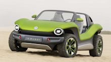 Volkswagen shows off ID. Buggy in California