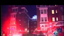 Multiple-story apartment building fire
