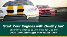 Quality Inn Revs Up with NASCAR Fan Giveaway to the 2020 Coke Zero Sugar 400