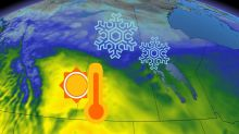 Wintry pattern (somewhat) breaks down on the Prairies, temperatures set to soar