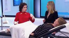 Cara Delevingne's sister Chloe undergoes smear test on live TV