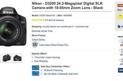 Nikon D3200 now shipping from Best Buy, unboxing video gets personal with new features