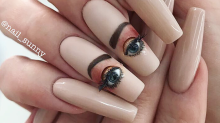 This creepy nail art with blinking, movable eyes is being called 'nightmare fuel'
