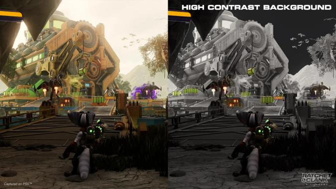 Ratchet & Clank: Rift Apart high-contrast settings