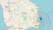 Terremoto al largo di Crotone: nuova scossa di magnitudo 3.9
