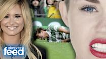 Louis Tomlinson's Soccer Injury, Demi Lovato's New Book & Miley Cyrus' Wrecking Ball - Clevver Feed