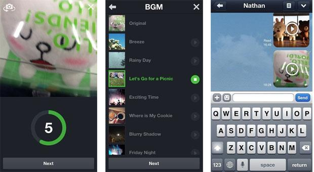 Line messaging app update adds distinctly Vine-ish Snap Movie feature