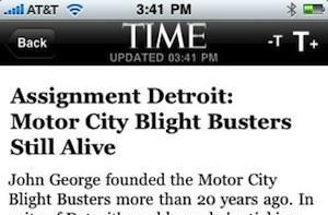 Time Magazine updates iPhone app to 2.0