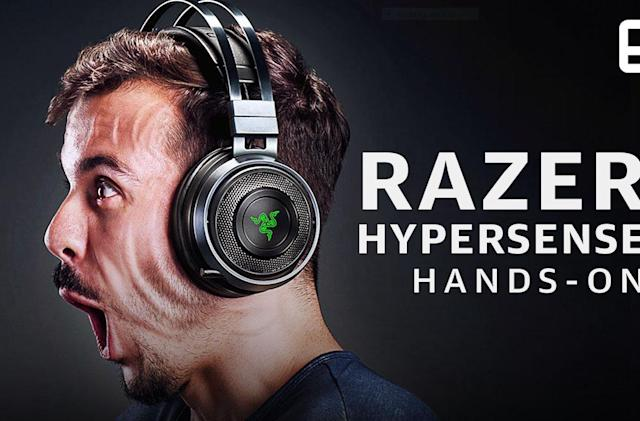 Razer's 'Hypersense' vibration tech shakes your whole gaming rig
