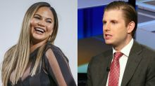 Chrissy Teigen savagely responds to Eric Trump's 'life is exponentially worse' remark