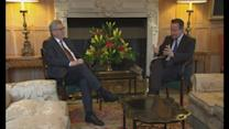 David Cameron chats with Jean-Claude Juncker