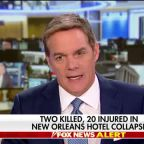 Two dead, 20 injured in New Orleans hotel collapse