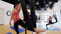 Louisiana yoga class adds aerial movements