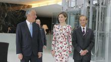 La reina Letizia y su vestido de flores