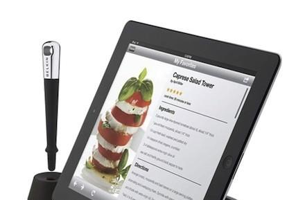 Get (holiday) cooking with the Belkin Chef Stand + Stylus for iPad