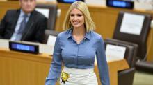 Ivanka Trump returns to work following Misha Nonoo's wedding in embellished Prada skirt