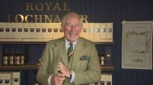 Prince Charles tours Scottish whisky distillery