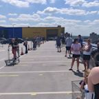Coronavirus: Customers queue for hours as Ikea reopens 19 shops