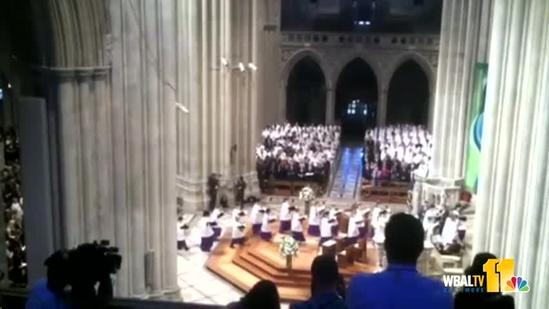 Procession begins at Armstrong funeral