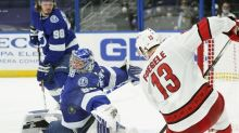 Colton scores in NHL debut, Lightning beat Hurricanes 3-0