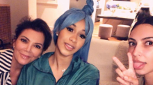 Kris Jenner and Kim Kardashian host a 'rich people' night with Cardi B