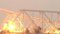 Raw: Last Piece of Ohio River Bridge Blasted