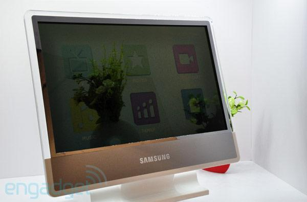 Samsung's 22-inch Transparent BLU LCD TV shipping next week, eyes-on at SID 2011 (video)