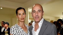 Matt Lauer and wife Annette Roque step out without wedding rings