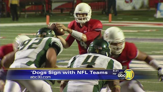 Three Bulldogs sign with NFL teams