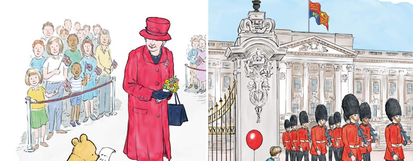 Winnie-The-Pooh's Chance Meeting With The Queen