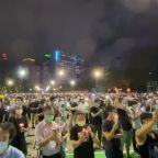 Thousands descend onto Hong Kong's Victoria Park to remember Tiananmen Square massacre 31 years on
