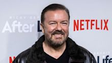 Ricky Gervais has waded into the Farage milkshake row