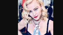 Madonna criticized for posing in a bra with Virgin Mary statue