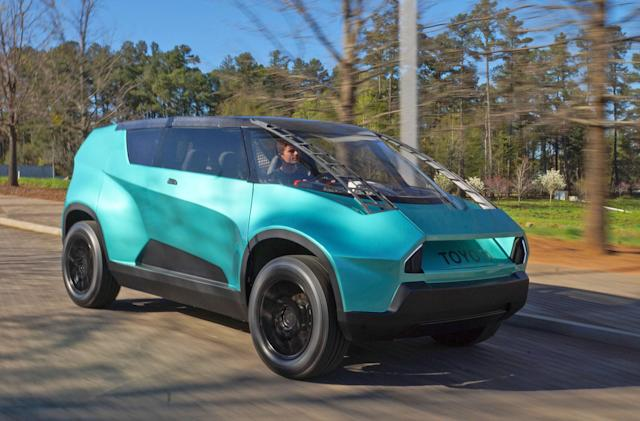 Toyota's concept for the next generation has a 3D-printed dash