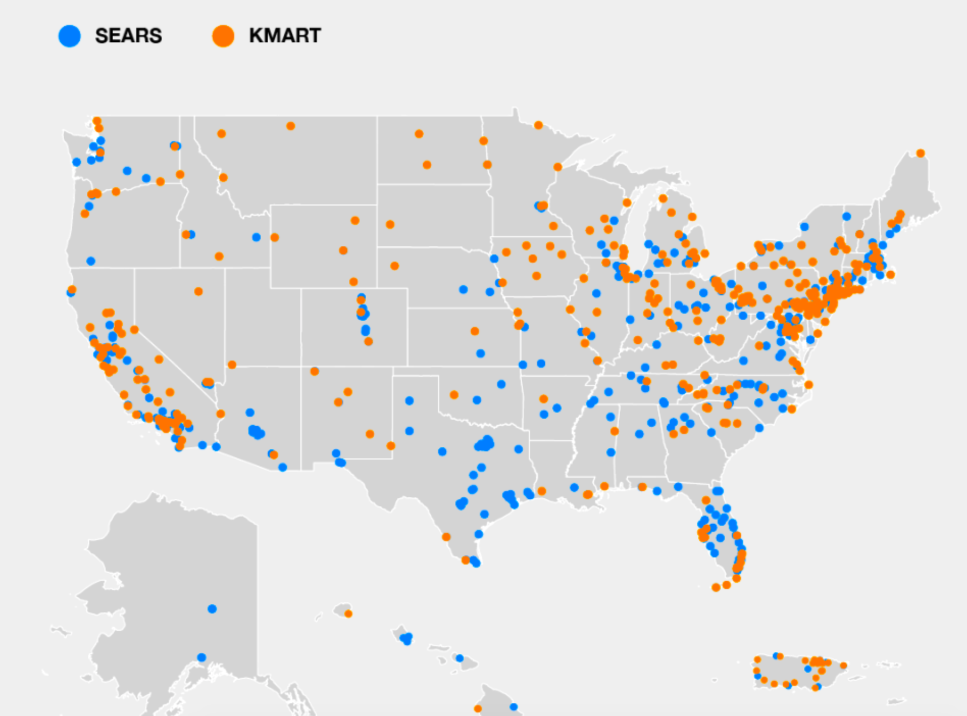 Map: Sears and Kmarts left in America on lg store map, schnucks store map, gnc store map, market basket store map, express store map, finish line store map, chicago store map, dillard's store map, ahold store map, albertsons store map, supervalu store map, brookshire's store map, pathmark store map, spirit halloween store map, old navy store map, gamestop store map, amazon store map, vons store map, radioshack store map, belk store map,