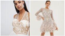 Woman decides between bridal looking dresses for ex-boyfriend's wedding