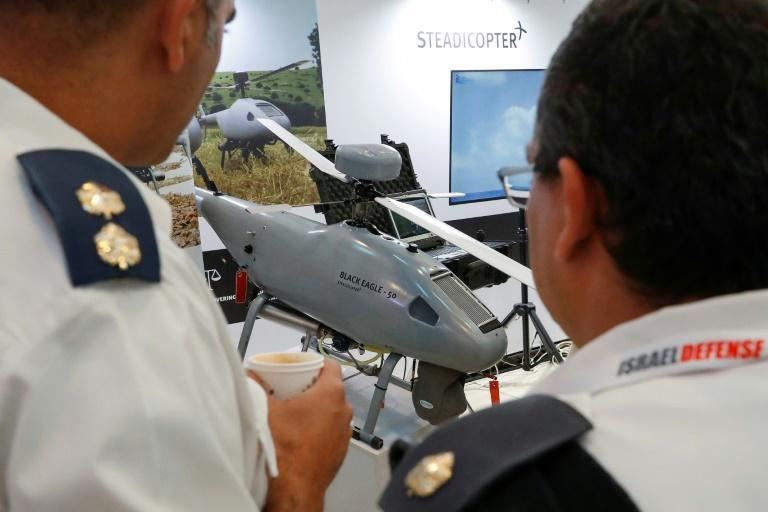 The Orbiter 3, a small tactical unmanned aerial vehicle (STUAV), made by Israeli company Aeronautics (AFP Photo/JACK GUEZ)