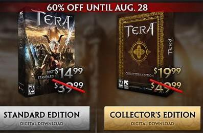 TERA digital download clients 60% off through August 28th