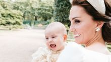 Prince Louis is all smiles with mom Kate Middleton in adorable new christening photo